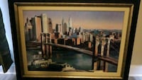brown wooden framed painting of building Chattanooga, 37412