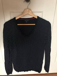 black and white polka dot long sleeve shirt Montréal, H3H