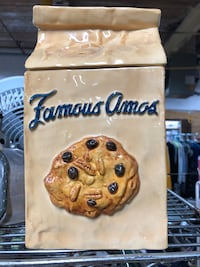 Famous Amos cookie Jar with original box Woonsocket, 02895