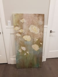 frameless abstract painting