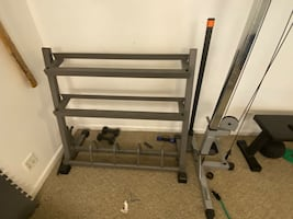 Dumbbell and plate storage Rack