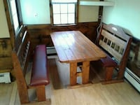 brown wooden table with chairs Woonsocket, 02895