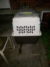 white and black plastic pet carrier Germantown, 20874
