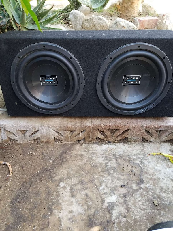 black Inter Fire dual car subwoofer