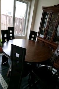 brown wooden dining table set Mississauga, L5M 6N9