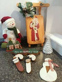 NEW Xmas Hangings(wood) & Snowman countdown Mississauga