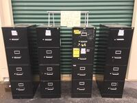Black 4-Drawer File Cabinets Mfg, All used Clover, 29710