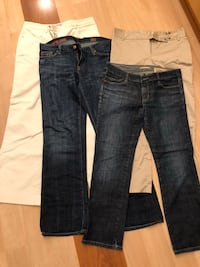Women's jeans and pants size 8 42 km