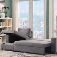 Sofa bed with storage (brand new)
