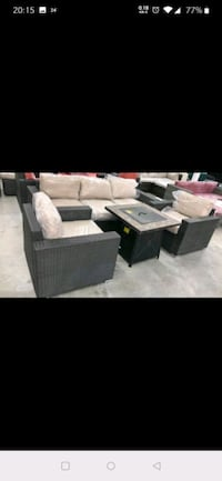 Liva Springs New patio set with firepit