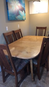Rectangular brown wooden table with four chairs dining set Spokane, 99208