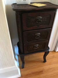 Small Side Table with Rattan inlay Toronto, M6C