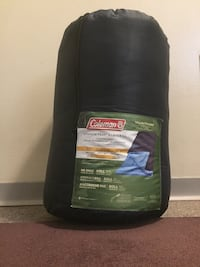 (BRAND NEW NOT USED AT ALL)Black and green coleman sleeping bag Edmonton