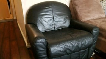 small leather chair. perfect for kids room .