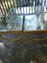 Living room glass table with two end tables Charlotte, 28206