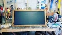 Custom built chalkboard with rustic frame  Toronto, M6E 4H3