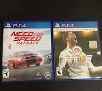 Need for speed payback and fifa 18 Vaughan, L6A 4E9