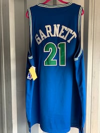 Kevin Garnet Mitchell and Ness Timberwolves jersey  McDonough