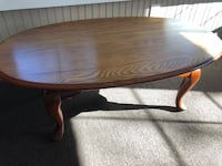 Oval coffee table with glass top Norristown, 19403