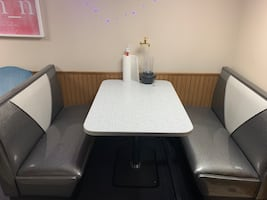 Retro Dining Table & Booth
