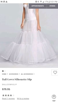 Ball Gown Silhouette Slip. from David's Bridal. Gown poof.wedding. North Las Vegas