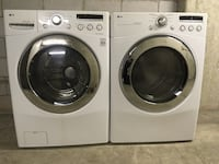 two white front-load clothes washer and dryer set Mississauga, L4W 3P4