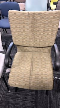 brown wicker framed white padded armchair Columbia, 21046
