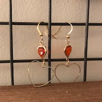 Crystal heart drop earring Toronto, M2N 7L3