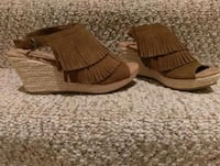 pair of brown suede fringe boots Woodbridge, 22193