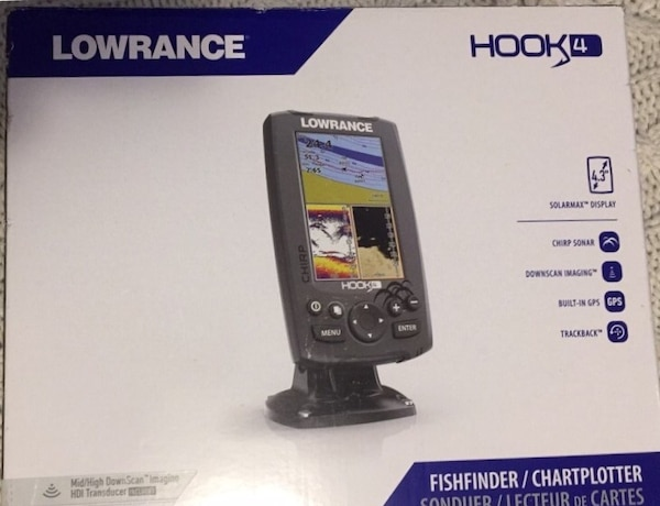 "Used *Brand New* LOWRANCE ""HOOK4"" FISH FINDER/CHARTPLOTTER for sale"