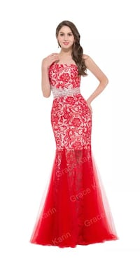 White and Red long dress Windsor, N8X