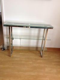 rectangular clear glass top table Montreal