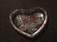 Clear red rose glass case