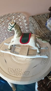 white wooden rocking horse . South Barrington, 60010