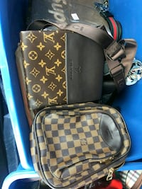 brown and gray leather Louis Vuitton sling bag Ottawa, K1V 1C1