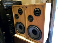brown and black subwoofer speaker London, N6L 0B8