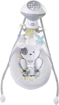 baby's white and gray cradle and swing Virginia Beach, 23455
