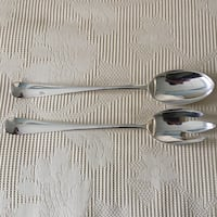 Vintage Silverplate Large Serving Spoon & Fork Set by Gerity Brookline, 02446