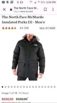 The North Face McMurdo Goose Down Parka Men's L Laurel