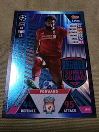 Match Attax UCL Mohamed Salah Limited Edition Card Singapore, 680615