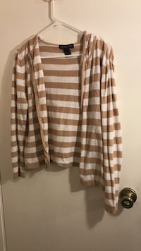 white and brown stripe cardigan Orcutt, 93455