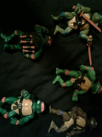 Vintage collectibles set of Ninja Turtles out of b