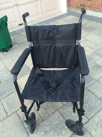 Transport chair,black wheel chair
