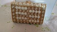 Gold and white floral designer clutch Pune, 411001