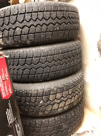 215/70R16 mounted snow tires/studs