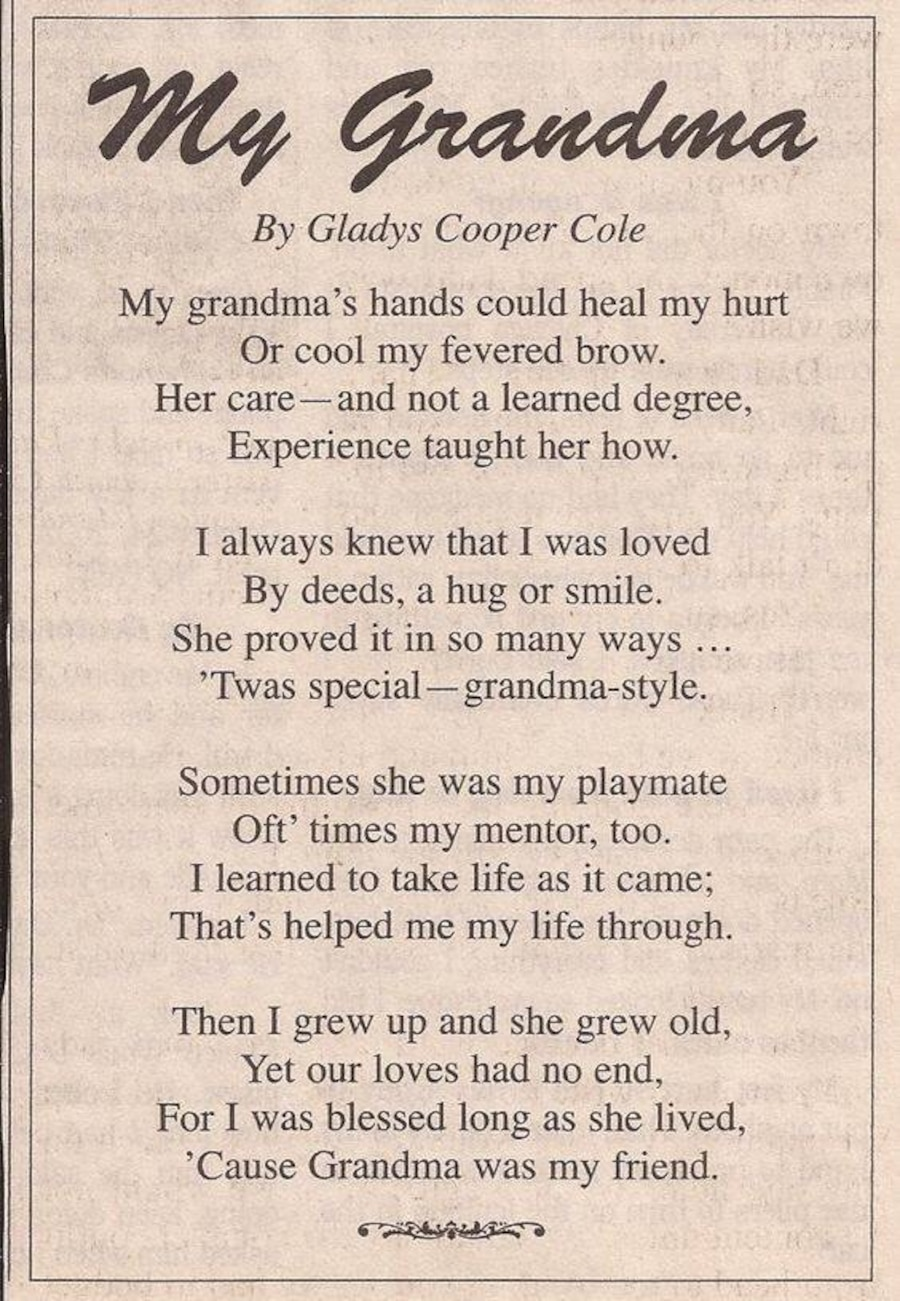 My Grandma Sayings: Used My Grandma By Gladys Cooper Cole In Spencer