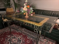 Hand Made Wrought Iron Glass Table w/six Chairs. Newmarket, L3Y 2Z5