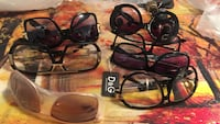 Assorted sunglasses and eyeglasses each