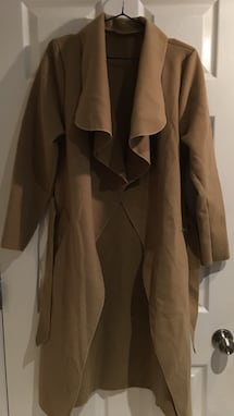 Belted shawl collar coat..