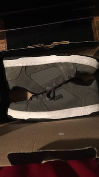 Pair of gray vans low-top sneakers with black box Clarksville, 37043